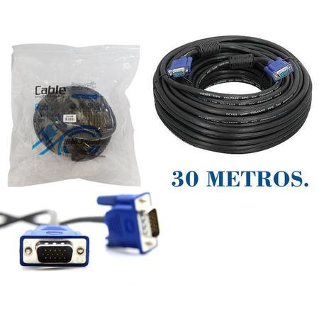 Cabo de Vídeo VGA 30 Metros CB0194 Preto - OEM