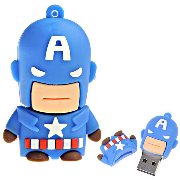 Pen Drive 8GB Capitão América PD0013 - Kid Boys