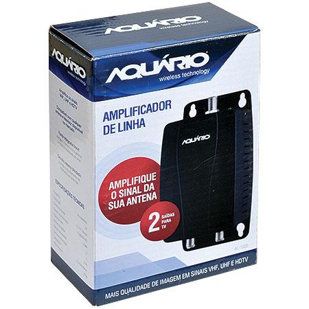 Amplificador de Sinal para Antena VHF/UHF/HDTV 20DBI AL-1020 - Aquario