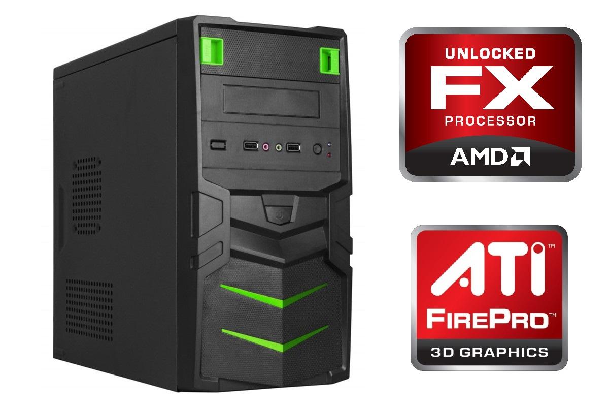 Computador para Engenharia/Autocad Quad-Core 3.8Ghz 8GB HD 1TB Video Firepro 2270 1GB DDR3 Fonte 500W - Glacon