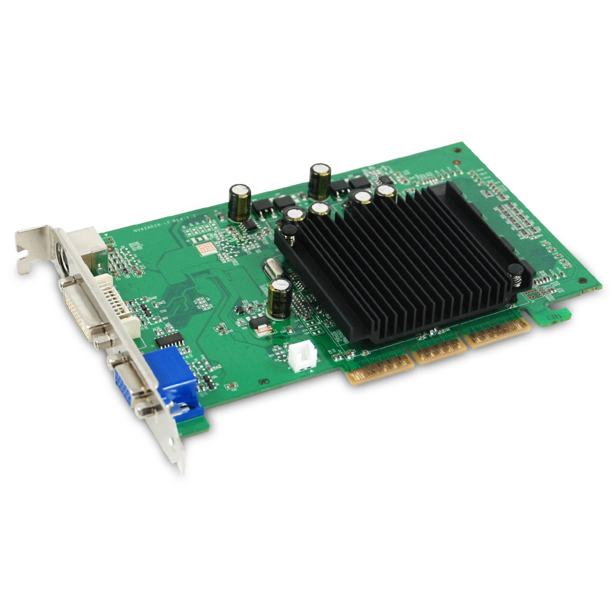Placa de Video AGP GeForce FX6200 512MB DDR2 64Bits DVI-VGA 512-A8-N403-LR - EVGA
