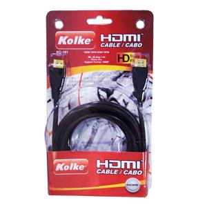 Cabo HDMI KC-106 1.80M 19PM-1 1.4V Azul - Kolke