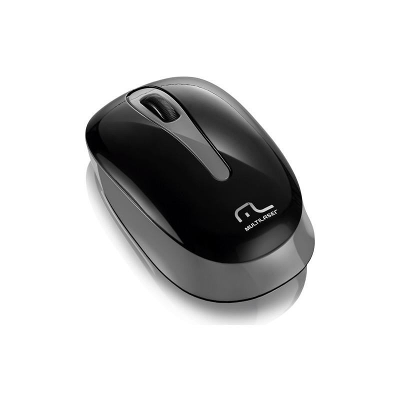 Mouse Tablet USB sem Fio MO200 Preto/Cinza - Multilaser
