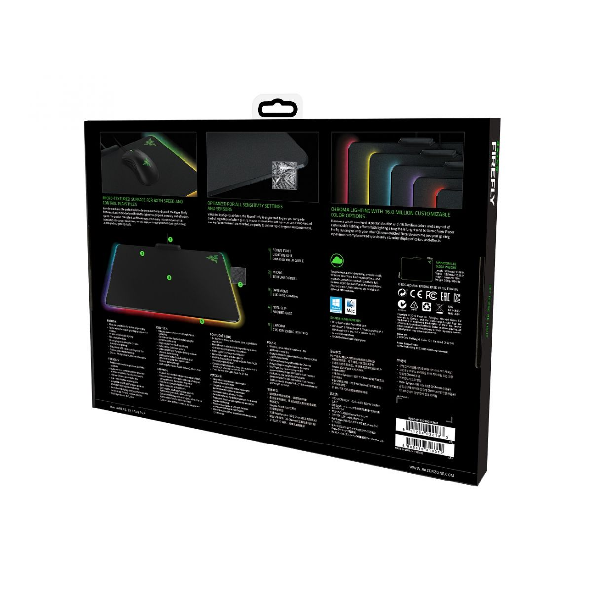 Mouse Pad Chroma Firefly RZ02-01350100-R3U1 - Razer