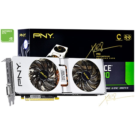 Placa de Vídeo GeForce GTX980 OC Edition 4GB DDR5 256Bits VCGGTX9804XPB-XP-OC - PNY