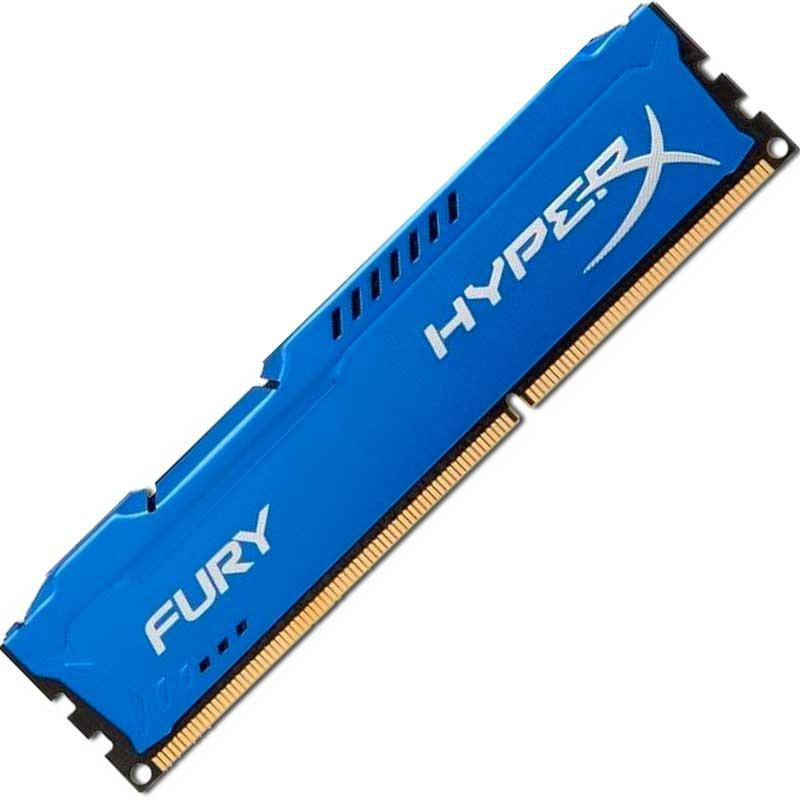 Memória HyperX Fury 4GB 1866Mhz DDR3 CL10 Azul HX318C10F/4 - Kingston
