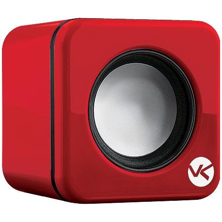Caixa de Som 2.0 USB 6W RMS (2x3W) VS-101 Vermelha 17351 - Vinik