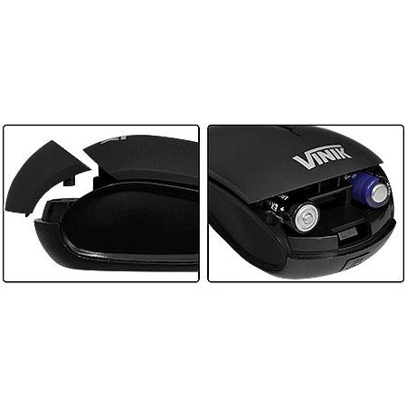 Mouse Sem Fio W400 Preto 1600DPI - Vinik