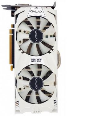 Placa de Vídeo GeForce GTX950 EX OC White 2GB DDR5 128Bit 95NPH8DVE8EW - Galax