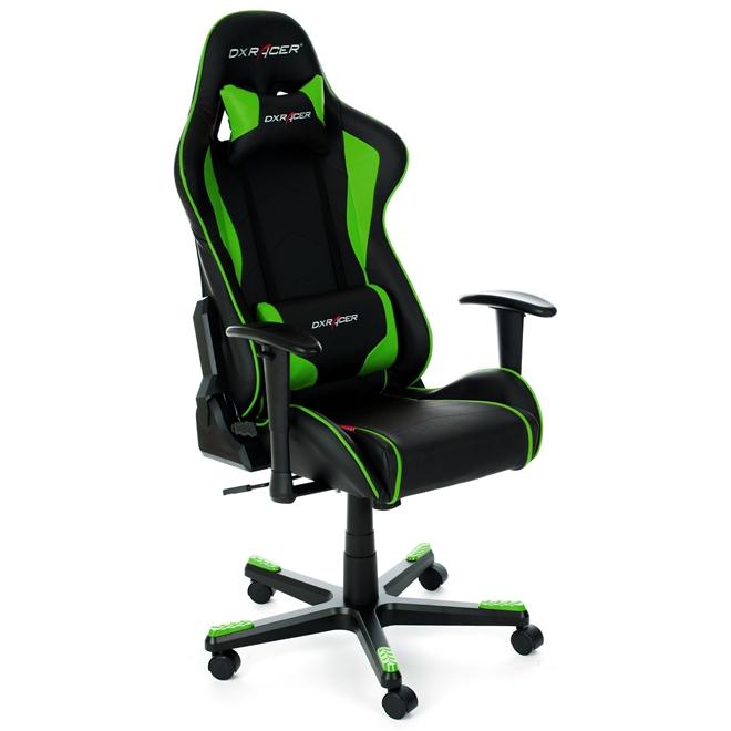 Cadeira F-Series OH/FE08/NE Preto/Verde - DXRacer