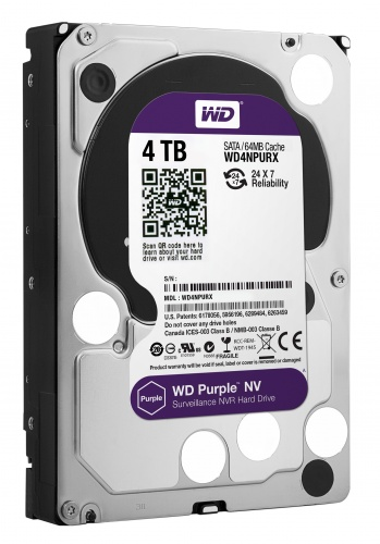 Hard Disk 4TB NV WD4NPURX IntelliPower  64MB Sata III 3,5 Surveillance - Western Digital