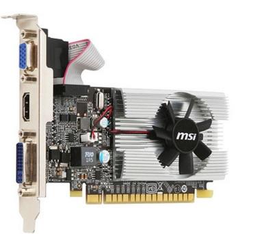 Placa de Vídeo Geforce N210 1GB DDR3 64 Bit N210-MD1G/D3 - MSI