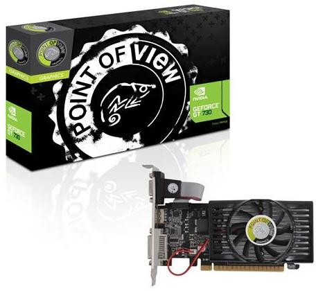 Placa de Vídeo Geforce GT730 2GB DDR3 128Bits VGA-730-C5-2048 -  Point of View