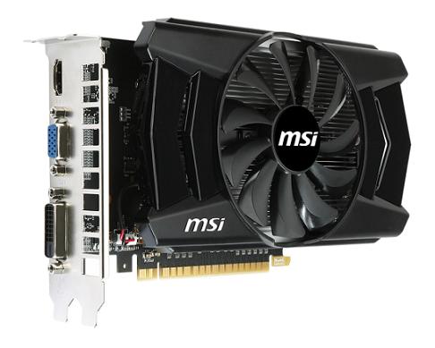 Placa de Vídeo Geforce GTX750 OC 1GB DDR5 128Bits N750-1GD5/OC  - MSI