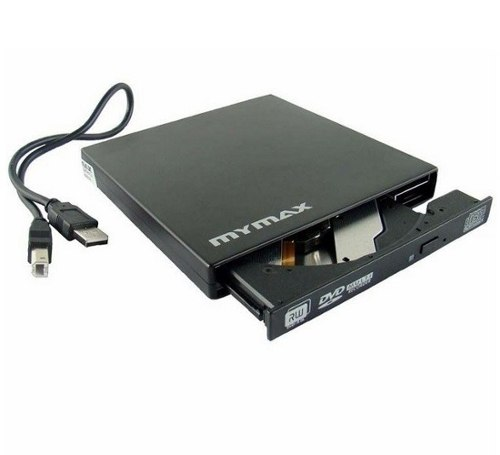 Gravadora DVD-RW Externa Slim MENC/E01-BK Usb - Mymax