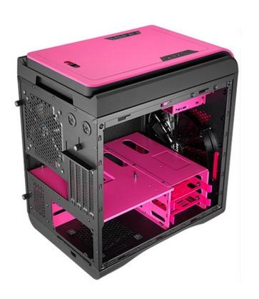 Gabinete DS Cube Pink Window Edition sem Fonte EN52551 - Aerocool