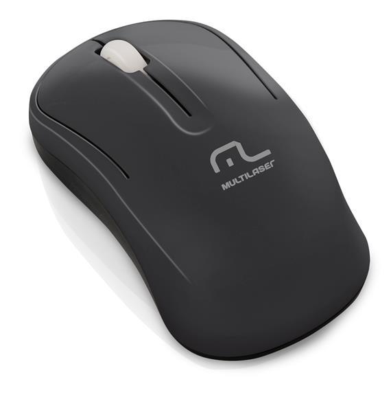 Mouse Sem Fio 2.4Ghz Eco Preto 1000DPI MO173 - Multilaser