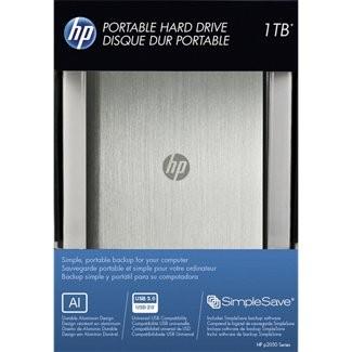 Hard Disk Externo 1TB USB 3.0 Prata HPHDD2E31000AS1-RBU (P2100S) - HP