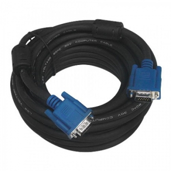 Cabo VGA para Monitor HD15M x HD15M 10 Metros Preto VC-100 - Pcyes