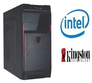 CPU G4 Intel Dual Core G3250 3.2Ghz Memória de 4GB KVR13N9S8/4 HD de 400GB - Glacon