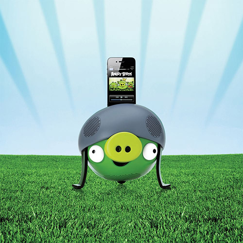 Dock Station Angry Birds Helmet Pig PG543G para Ipad/Iphone/Ipod 30W RMS - Gear4