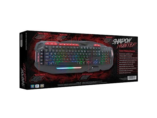Teclado USB Gamer Chroma HL-SHK Preto - HARDLINE