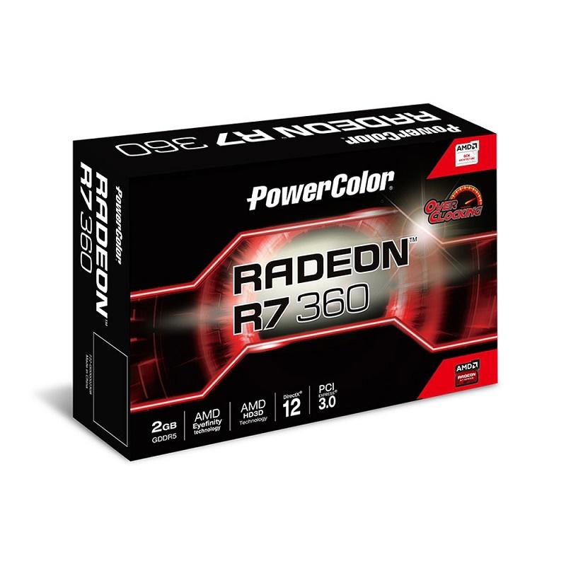 Placa de Video Radeon AXR7 360 2GBD5-DHE/OC R7360 2GB DDR5 - PowerColor