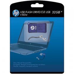 Pen Drive 32GB V165W P-FD32GBHP165-GEL Azul - HP