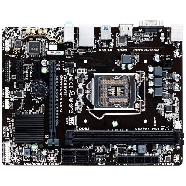 Placa Mãe LGA 1151 GA-H110M-H DDR3 (S/V/R) - Gigabyte