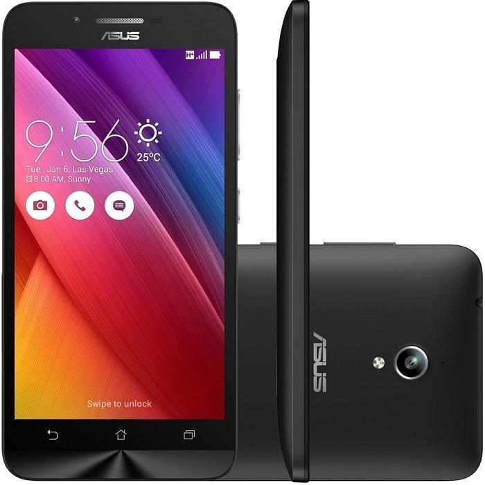 Smartphone Zenfone Go ZC500TG-1A051BR, Quad Core, Android 5.1, Tela 5, 16GB, 8MP, 3G, Dual Chip Preto - Asus