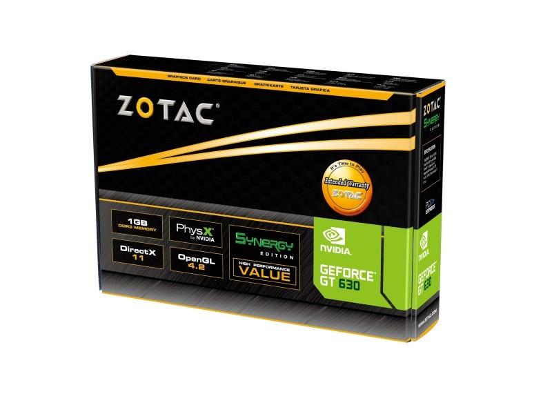 Placa de Video GeForce GT630 1GB DDR3 128Bits ZT-60412-10L - Zotac