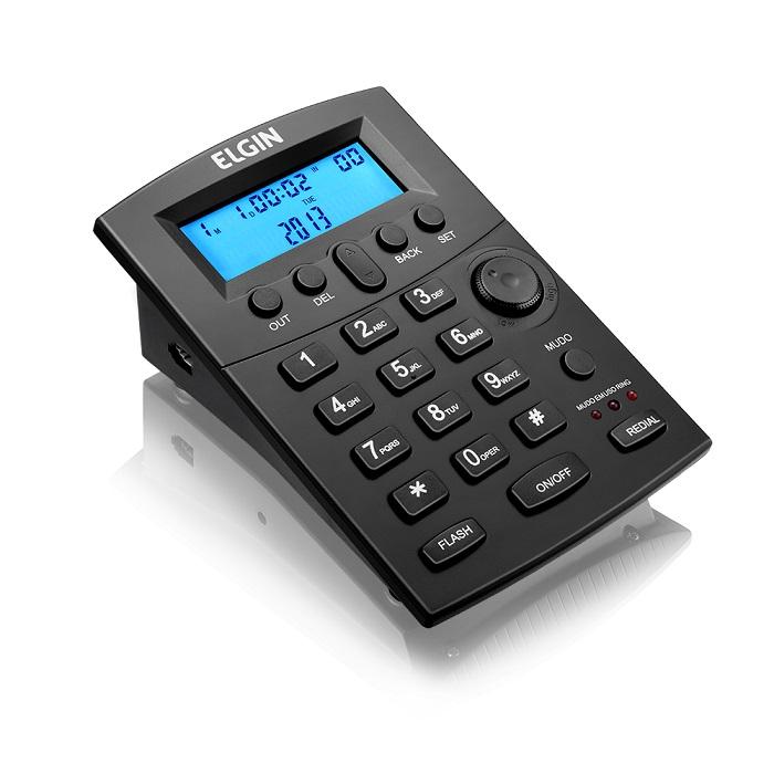 Telefone C/Headset C/ID Preto HST8000 - Elgin