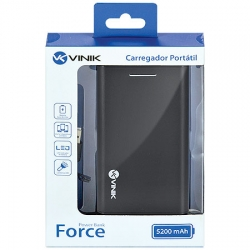 Carregador Portátil para Celular 5200mAh Force 23589 - Vinik