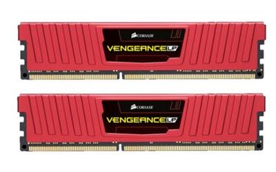 Memória Vengeance LP 8GB (2x4GB) 1600MHz DDR3 CL9 Low Profile Red CML8GX3M2A1600C9R - Corsair