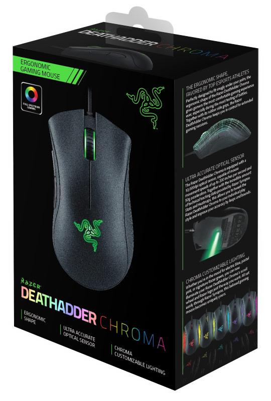 Mouse Deathadder Chroma Sensor 5G RZ01-01210100-R3G1 - Razer