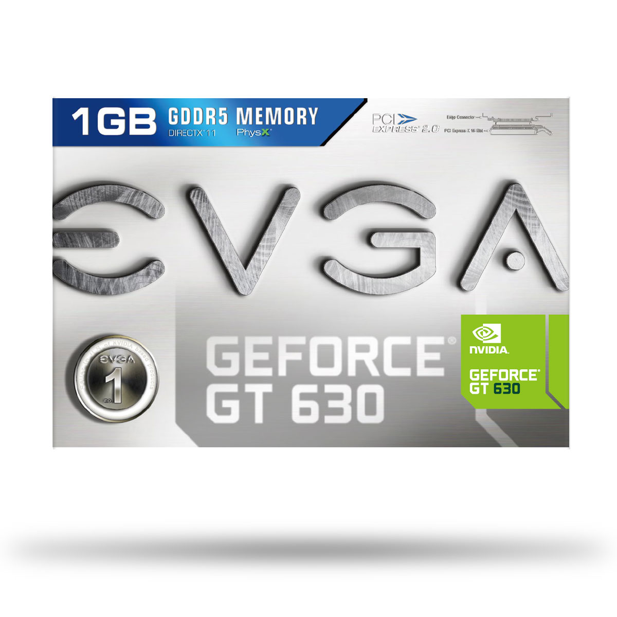 Placa de Video GeForce GT630 1GB GDDR5 128Bits 01G-P3-2632-KR - EVGA