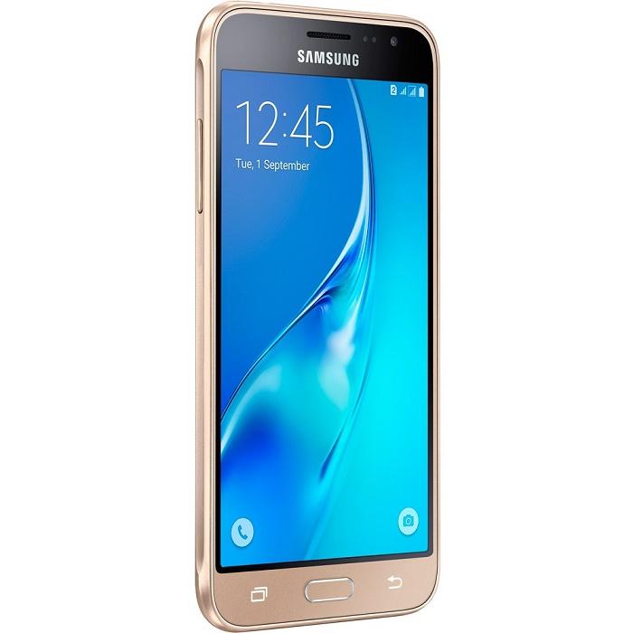 Smartphone Galaxy J3 SM-J320M/DS, Quad Core 1.5 Ghz, Android 5.1, Tela de 5, 8GB, 8 MP, 4G, Dual Chip, Dourado - Samsung