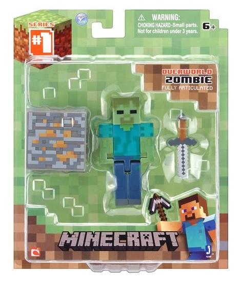 Minecraft Persn Articulado Zumbi BR144 - Multilaser
