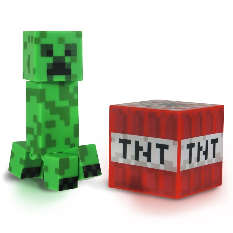 Boneco Minicraft Creeper 8cm