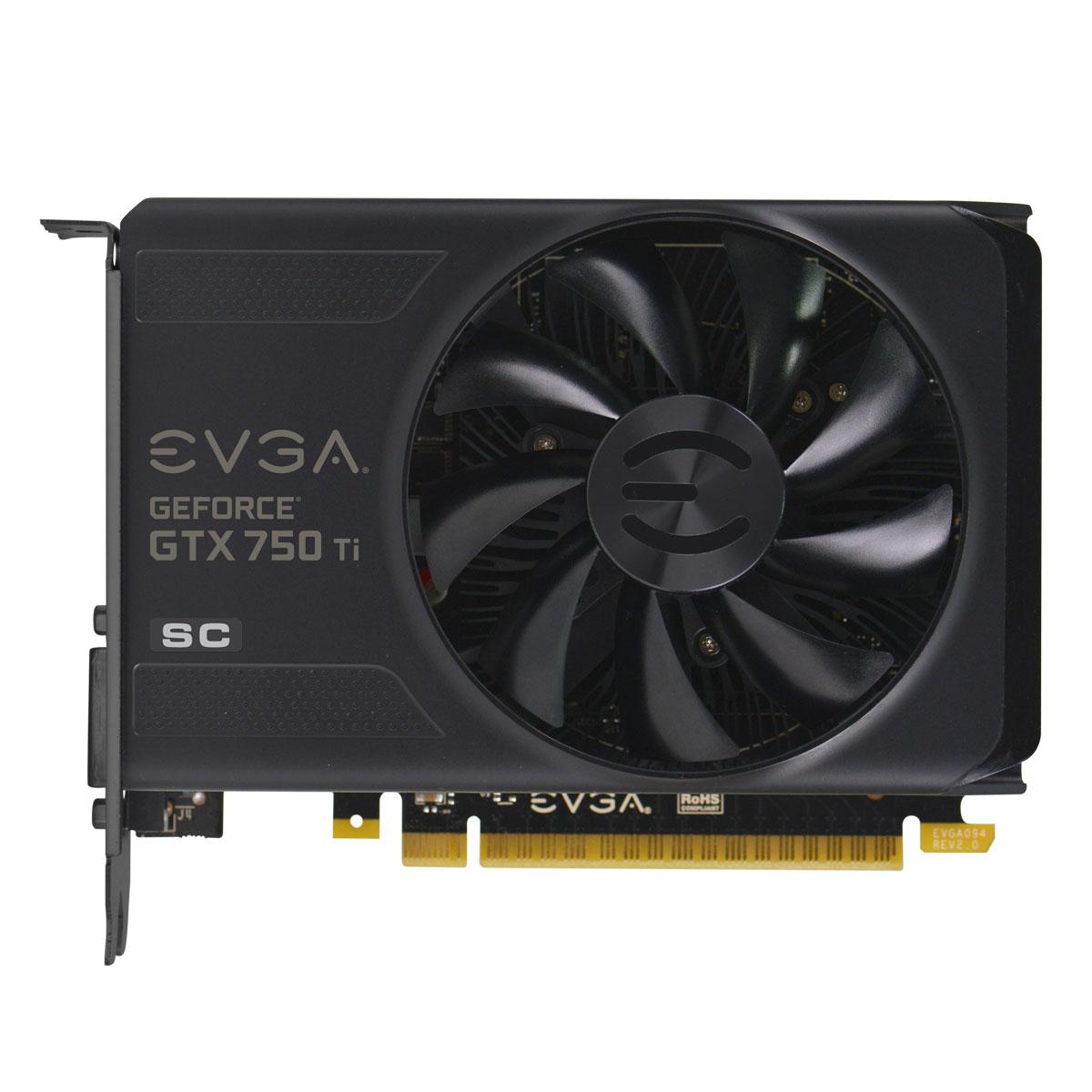 Placa de Vídeo Geforce GTX750 Ti 2GB SC DDR5 128Bits 02G-P4-3753-KR - EVGA