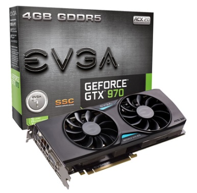 Placa de Vídeo Geforce GTX970 4GB SSC ACX 2.0 DDR5 256Bits 04G-P4-3975-KR - EVGA