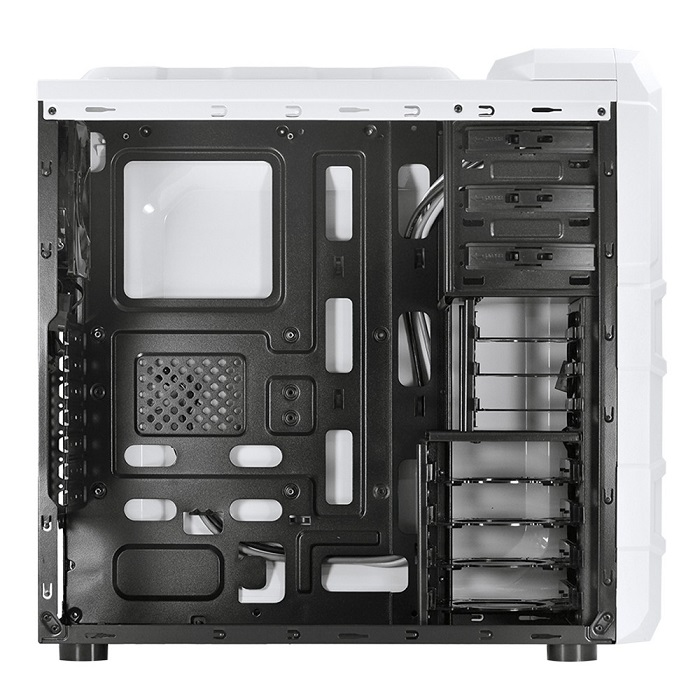 Gabinete ATX Gamer Rhino S/Fonte Branco 3 Fan Led Azul 22590 - Pcyes
