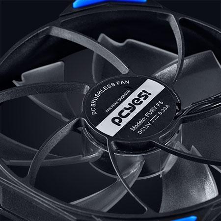 Cooler para Gabinete Fury F5 120mm LED Azul F5120LDAZ - Pcyes