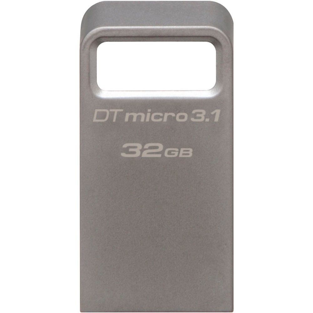 Pen Drive DataTraveler Micro, USB 3.0 Micro 3.1 32GB DTMC3/32GB Prata Metálico - Kingston