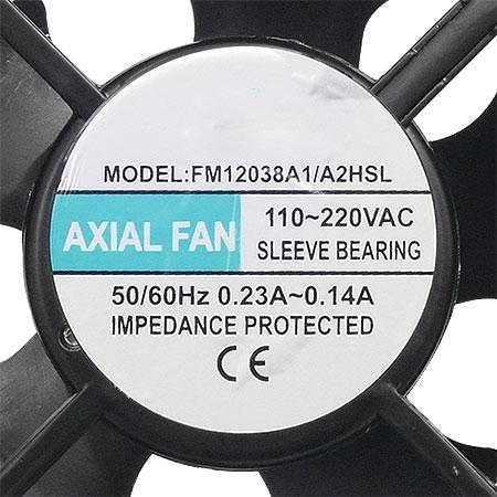 Cooler Exaustor 120X120X38mm BIVOLT 12038 - OEM