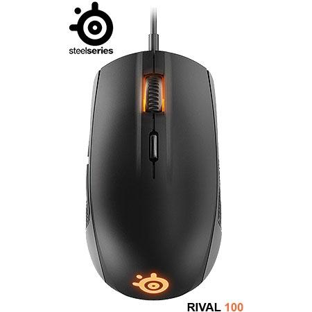 Mouse Gaming Óptico Rival 100 Preto 62341 - SteelSeries