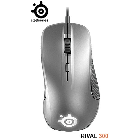 Mouse Gaming Óptico Rival 300 Silver 62350 - SteelSeries