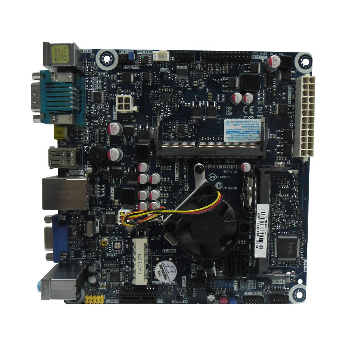 Placa Mãe com CPU Celeron Dual Core J1800 IPX1800P1 (S/V/R) - Pcware