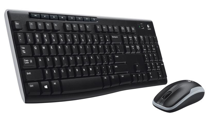 Teclado Multimidia e Mouse Wireless Preto Sem Fio MK270 - Logitech
