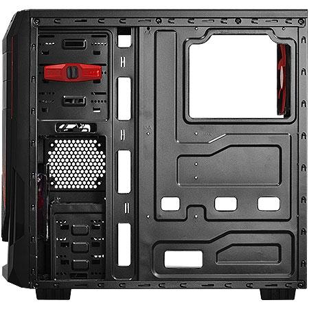 Gabinete Mid Tower Java com 1 Fan Vermelho lateral de acrílico JAVAPTOVM2FCA 23585/24226 - Pcyes